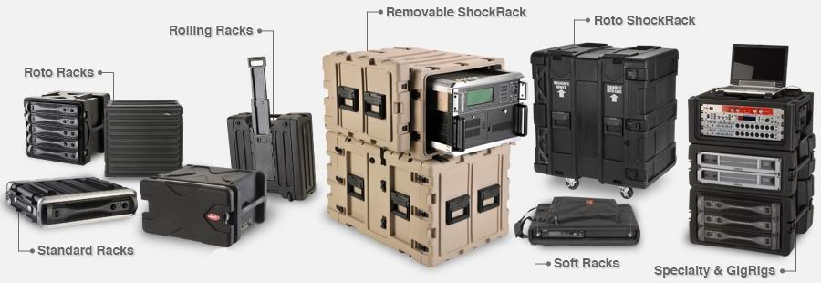 shock rack, roto rack, Rolling Rack, Shallow Rack, Soft Rack, Specialty & GigRigs